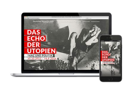 Deutsches Tanzarchiv Köln: Responsive One Pager