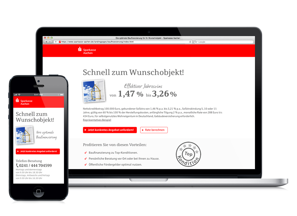 Sparkasse Aachen Online Marketing Kampagne Und Landingpage Zum