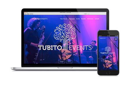Tubito Events: Corporate Design und Coming Soon Website